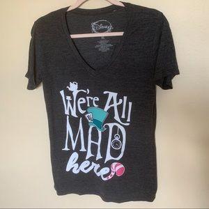 Disney alice in wonderland T-shirt gray